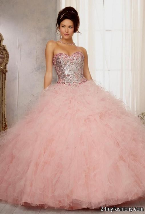 quinceanera dresses light pink 2016-2017