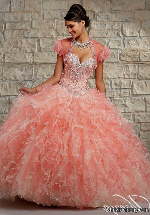 You can share t... Light Pink And Gold Quinceanera Dresses