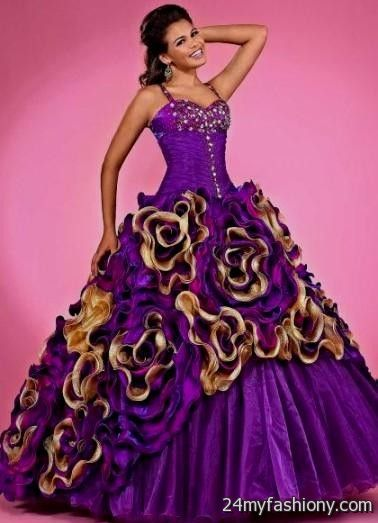 quinceanera dresses purple and gold 2016-2017 » B2B Fashion