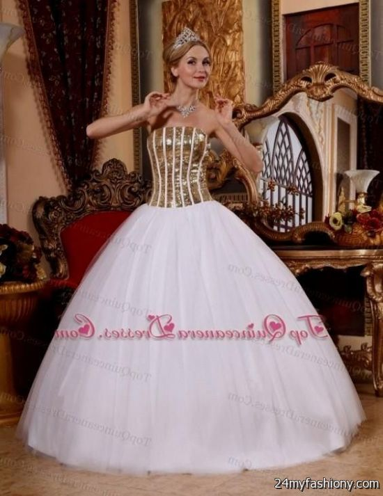 quinceanera dresses white and gold 2016-2017 | B2B Fashion