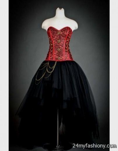 Red And Black Corset Wedding Dresses - Wedding Dresses