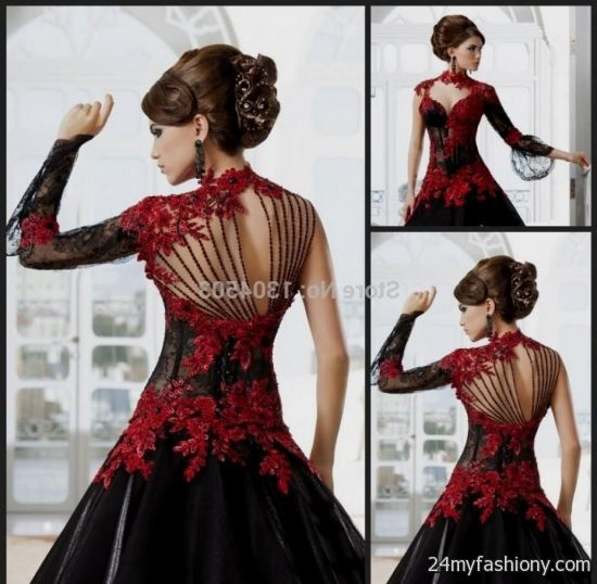 red and black corset wedding dress 2016-2017 | B2B Fashion