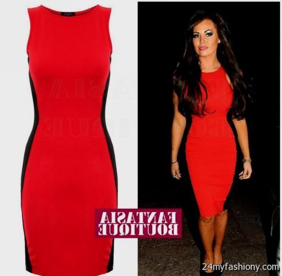 red and black fitted dress 2016-2017 » B2B Fashion