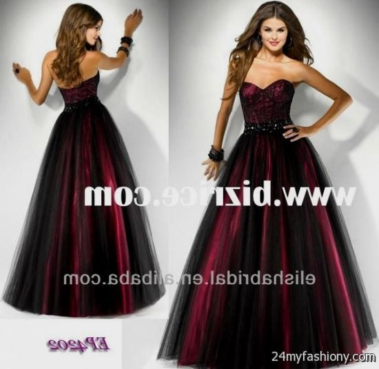 Prom dresses red and black