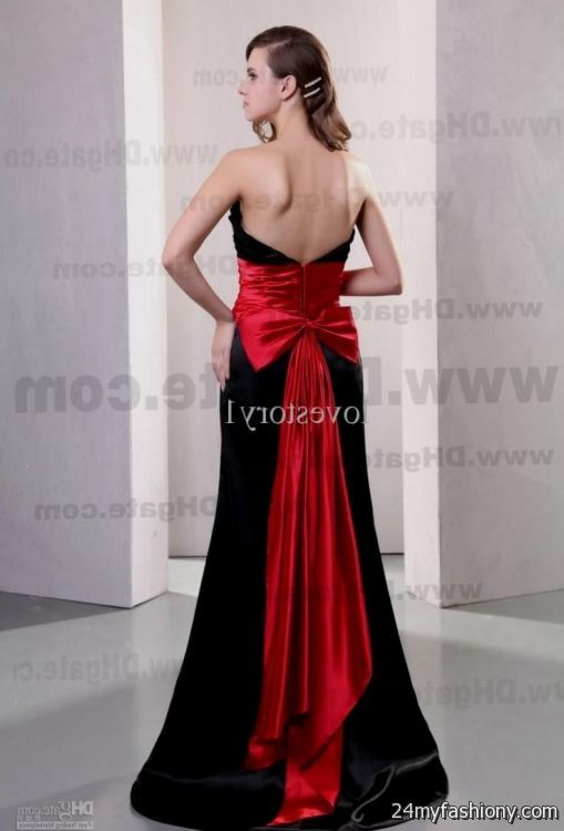 Black And Red Formal Gowns - Gommap Blog