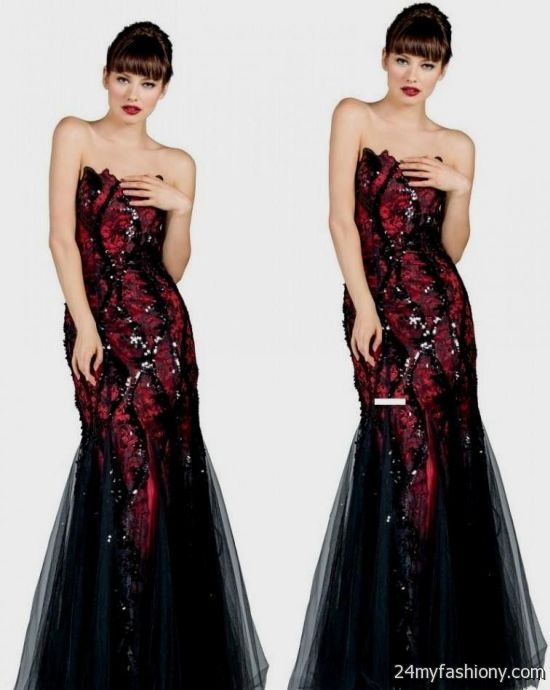 prom dresses 2018 red and black eligent prom dresses