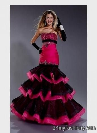 Images of Red And Black Prom Dresses 2017 - Lotki
