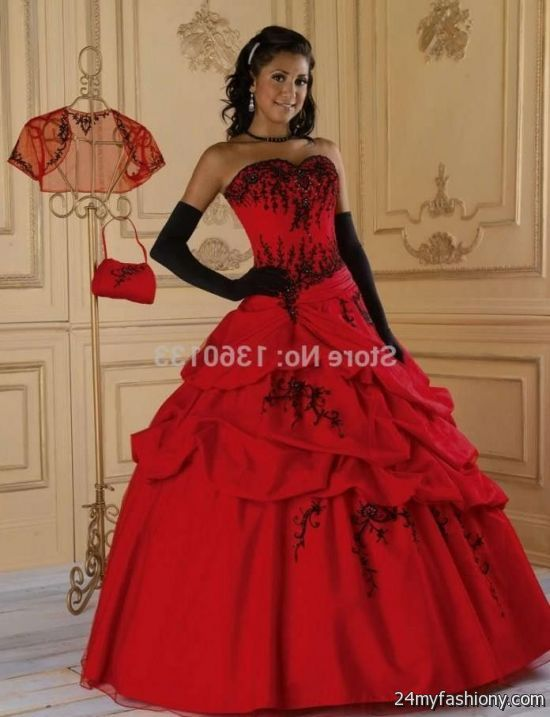 Red Puffy Prom Dresses - Black Prom Dresses