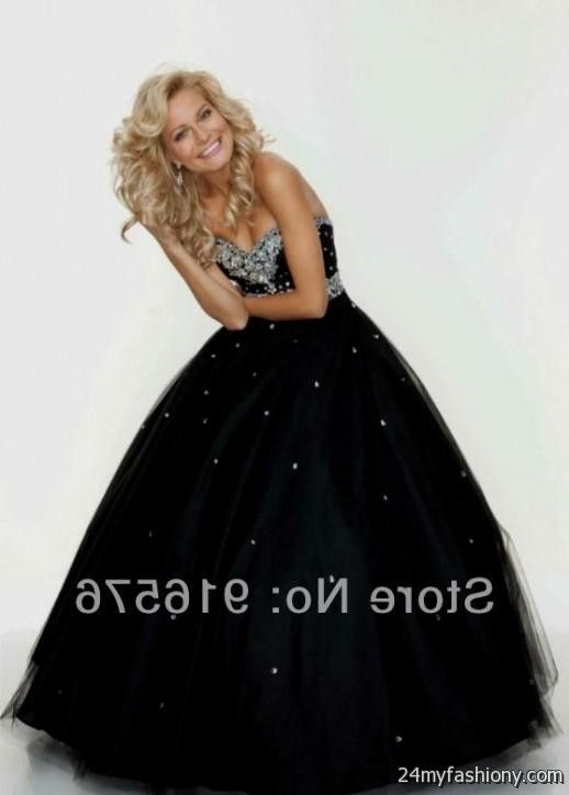 Puffy Black Prom Dresses