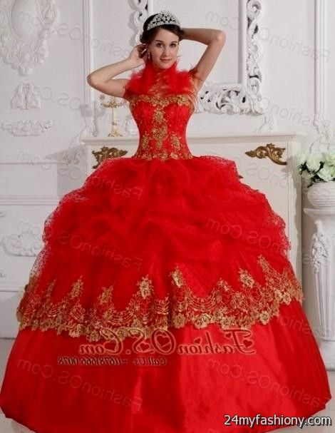 red and gold ball gowns 2016-2017 » B2B Fashion