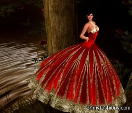 Red And Gold Ball Gowns Looks B2b Fashion