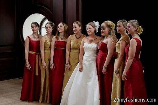 Bridesmaid Dresses Red And Gold - Wedding Dresses In Jax