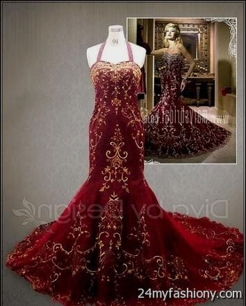 Red and gold wedding dresses 2016 2017 b2b fashion for Red and gold wedding dress