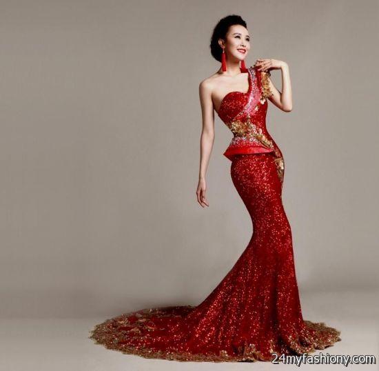 red and gold wedding dresses 2016-2017 | B2B Fashion