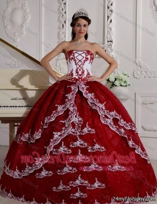 red and white ball gown 2016-2017 » B2B Fashion