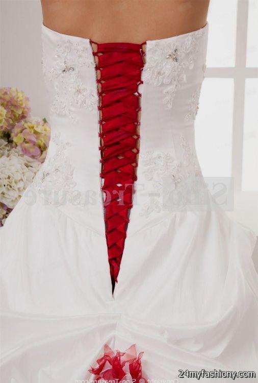 red and white corset wedding dress 2016-2017 | B2B Fashion