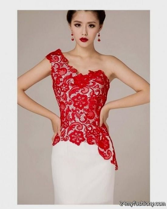 82fc6abd5 Red and White Lace Dress – Fashion dresses