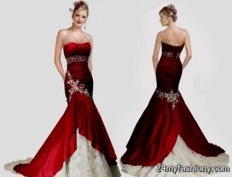 red and white mermaid wedding dresses 2016-2017 » B2B Fashion