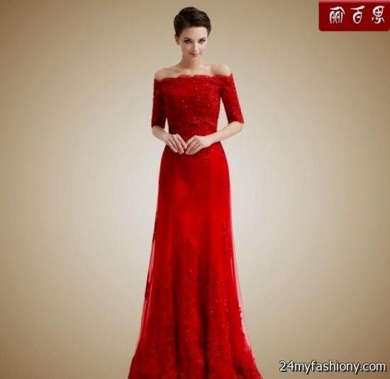 red bridesmaid dresses with sleeves 20162017 b2b fashion