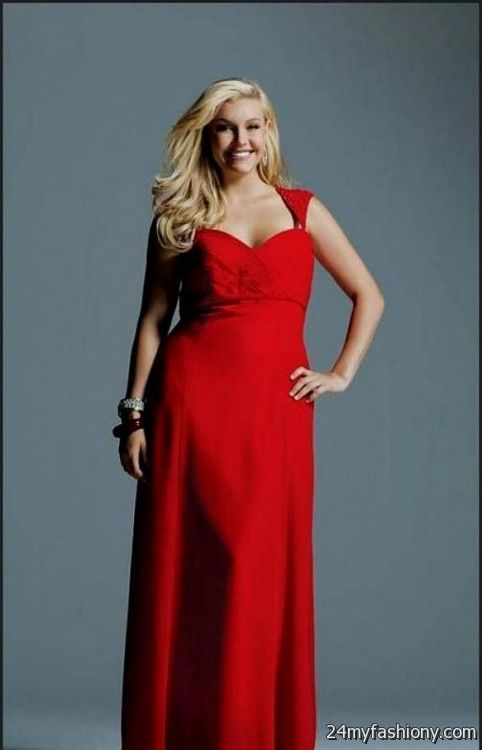 Red Bridesmaid Dresses With Sleeves Plus Size 2016 2017 B2b Fashion