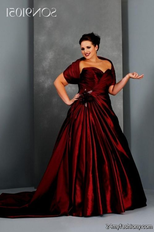Red Bridesmaid Dresses With Sleeves Plus Size 2016 2017