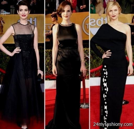 Red carpet black dresses 2016 2017 b2b fashion - Black and white red carpet dresses ...