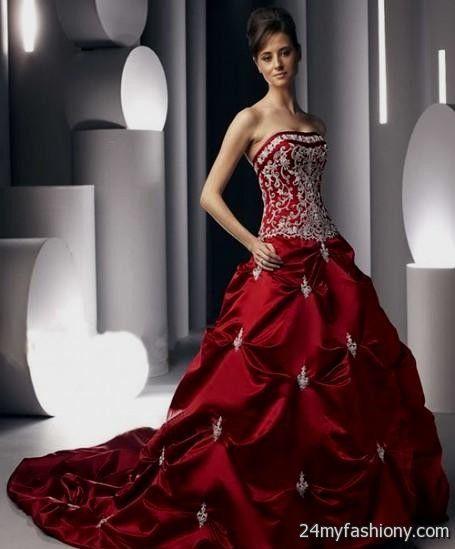 red corset wedding dress 2016-2017   B2B Fashion