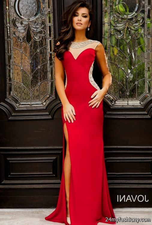 fitted red evening gowns - photo #4