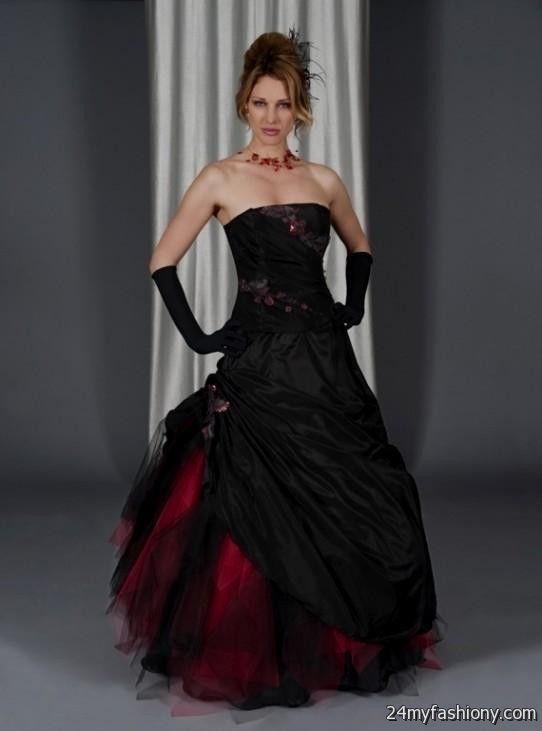 red gothic wedding dress 2016-2017 | B2B Fashion