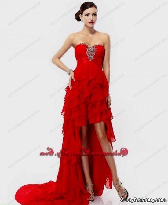 red high low dama dresses 2016-2017 » B2B Fashion