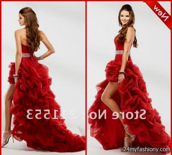 Red High Low Prom Dresses Uk - Prom Dresses With Pockets
