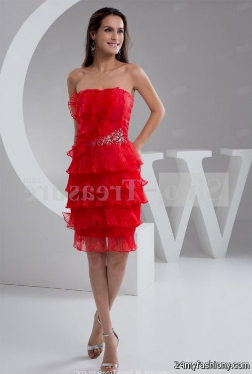 Red Prom Dresses Knee Length - Holiday Dresses