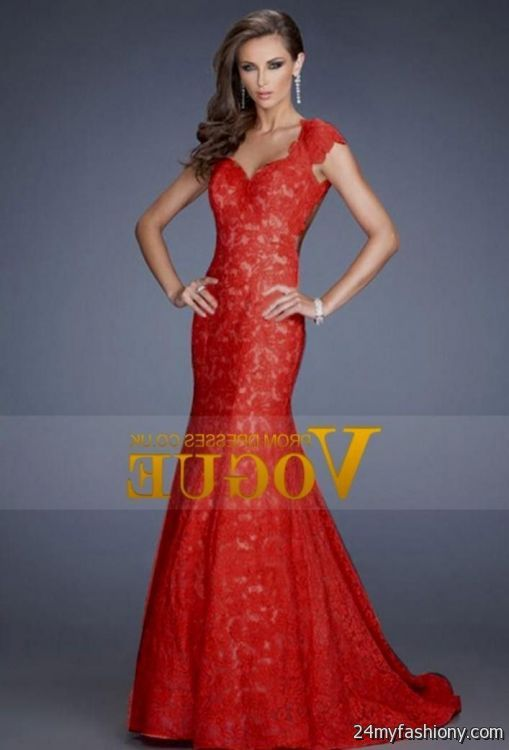 Fancy Red Lace Ball Gown Photo - Long Formal Dresses Evening Dresses ...