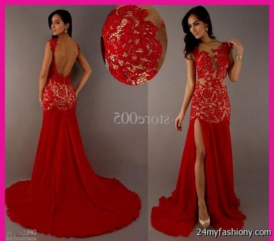 25b55d75929 You can share these red lace mermaid prom dresses on Facebook