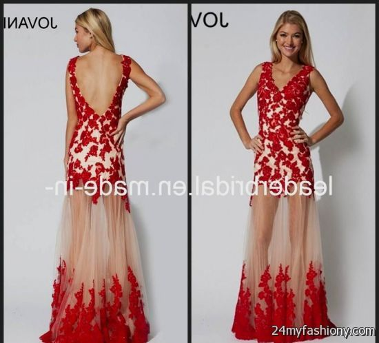 Luxury Prom Dresses Red Lace Vignette - Dress Ideas For Prom ...