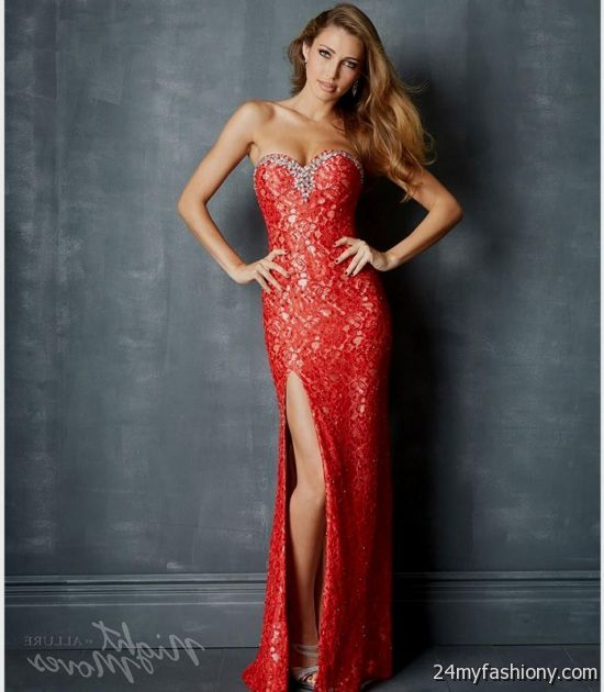 red lace prom dress tumblr 2016-2017   B2B Fashion