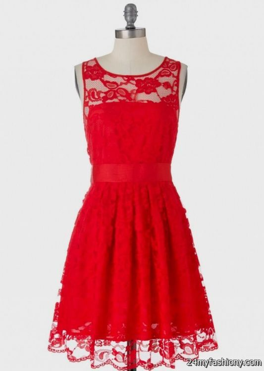c8a98bc5451a You can share these red lace sundress on Facebook