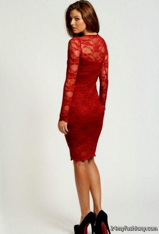 Red Long Sleeve Formal Dresses for Juniors