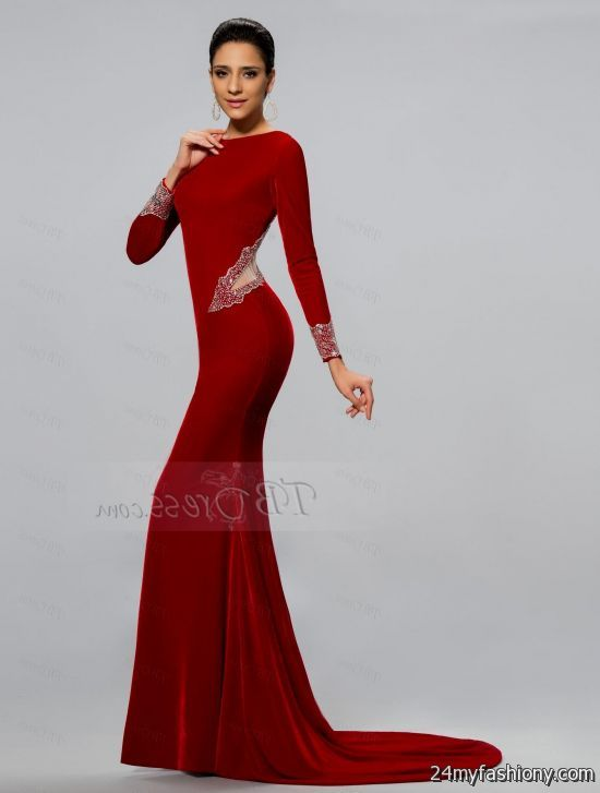 Red Mermaid Prom Dresses 2017 - Plus Size Prom Dresses