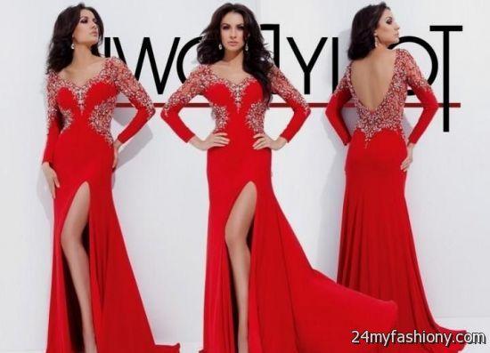 red long sleeve prom dresses 2016-2017 | B2B Fashion
