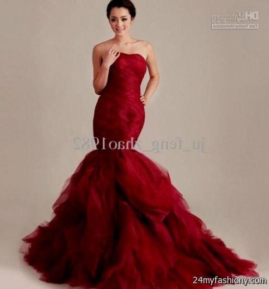 red mermaid ball gown 2016-2017 | B2B Fashion