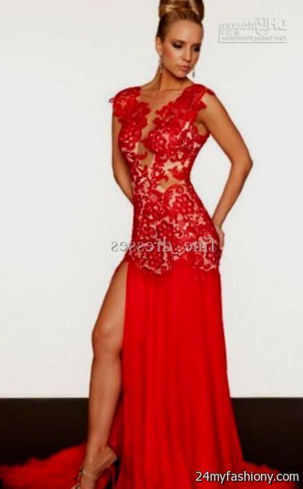 red open back lace prom dress 2016-2017 » B2B Fashion