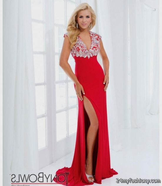 red prom dress with cap sleeves 2016-2017 » B2B Fashion