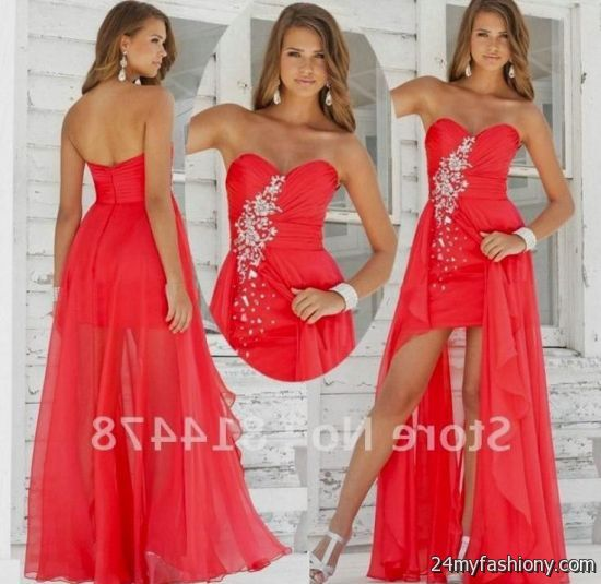 red prom dresses short front long back boutique prom dresses