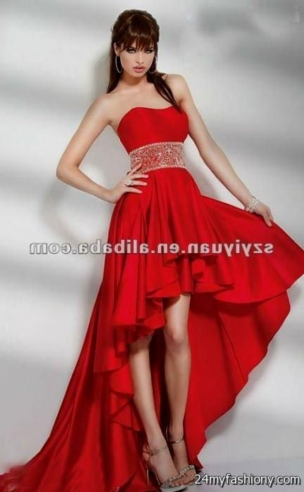 Red Prom Dresses Short Front Long Back - Boutique Prom Dresses