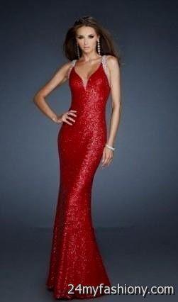 Red Sequin Prom Dress Looks B2b Fashion