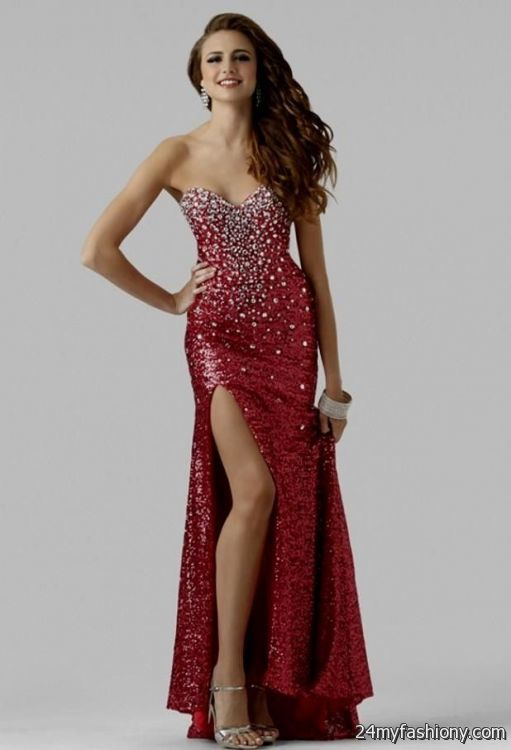 Red Sequin Prom Dress Photo Album - Reikian