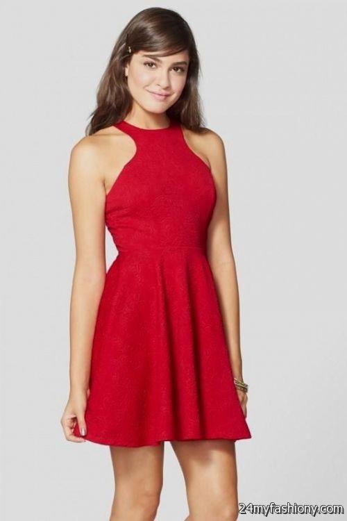 red skater dresses for juniors looks b2b fashion