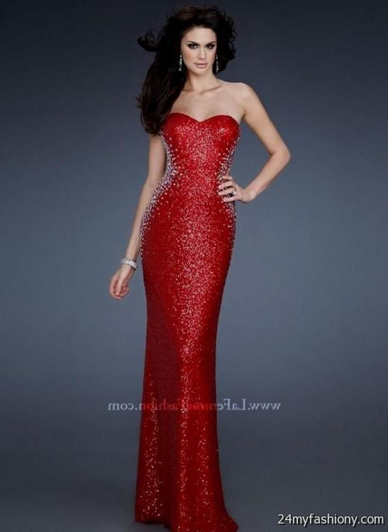 Sparkly Red Prom Dresses