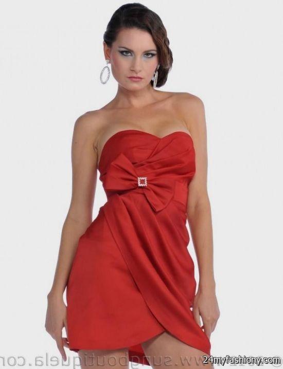 red strapless cocktail dress 2016-2017 » B2B Fashion